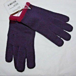 Coach Block Knit Texting gloves Iris XSmall